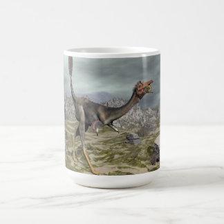Mononykus dinosaur in the desert - 3D render Coffee Mug