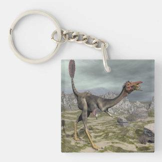 Mononykus dinosaur in the desert - 3D render Key Ring