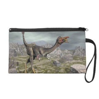 Mononykus dinosaur in the desert - 3D render Wristlet