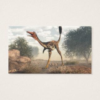 Mononykus dinosaur in the desert business card