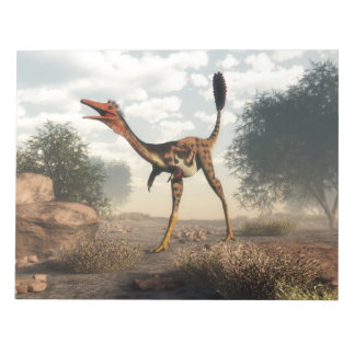 Mononykus dinosaur in the desert notepad