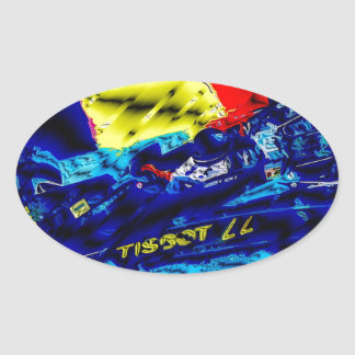 Monoposto - Artwork Jean Louis Glineur Oval Sticker