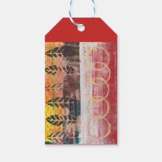 Monoprint Abstract 170256 Gift Tag