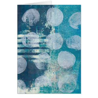 Monoprint Abstract 70255 Greeting Card