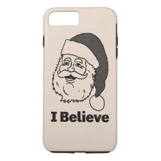 Monotone Inked I Believe Santa iPhone 7 Plus Case