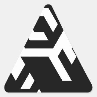 Monotoner Triangle Sticker