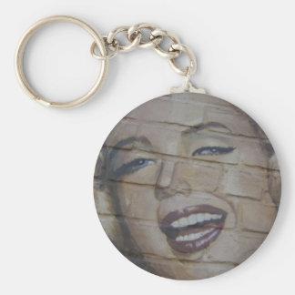 Monroe Basic Round Button Key Ring
