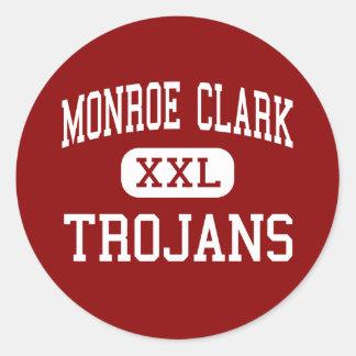 Monroe Clark - Trojans - Middle - San Diego Round Sticker