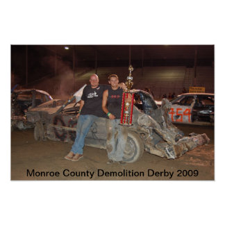 Monroe County Demolition Derby 2009 Poster