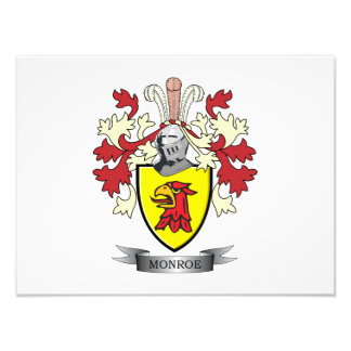 Monroe Family Crest Coat of Arms Photo Print