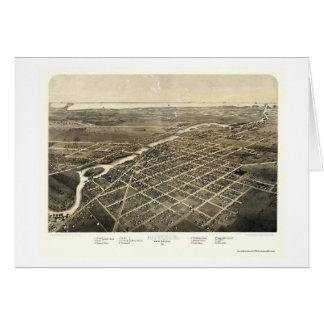 Monroe, MI Panoramic Map - 1866 Card