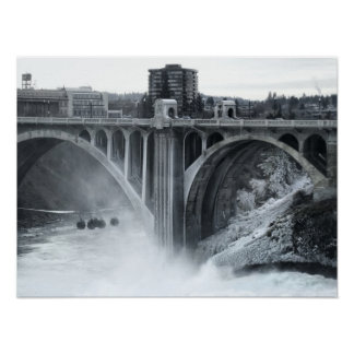 Monroe St Bridge 2 - Spokane Washington Poster