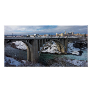 MONROE STREET BRIDGE in WINTER - SPOKANE Poster