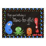 Mons-ter-iffic Cute Monster Custom Birthday Cards