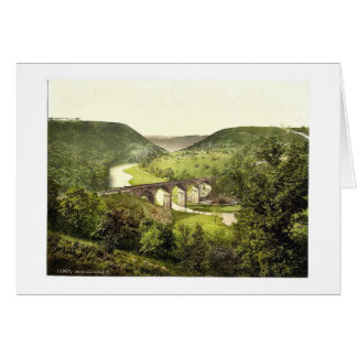 Monsal Dale III., Derbyshire, England magnificent Card