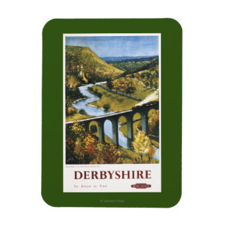 Monsal Dale, Train and Viaduct British Rail Rectangular Photo Magnet