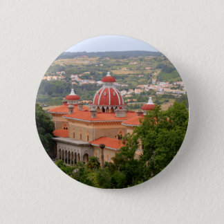 Monserrate Palace, near Sintra, Portugal 6 Cm Round Badge