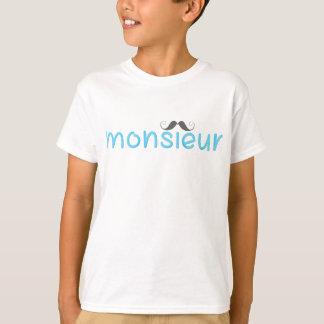 MONSIEUR - FUN TEXT - BLUE - Kids T-Shirt