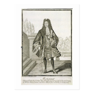 'Monsieur' otherwise Philip Duc d'Orleans of Franc Postcard