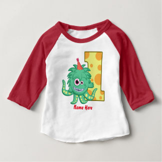 Monster 1st Birthday Custom Baby T-Shirt