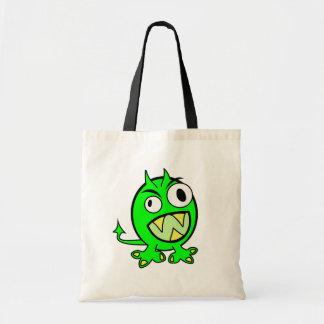 monster-303508 monster alien green lime scary FUNN Bags