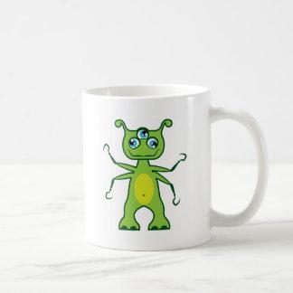 Monster 3 eye basic white mug