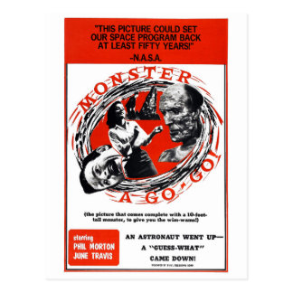 Monster A Go-Go ! Postcard