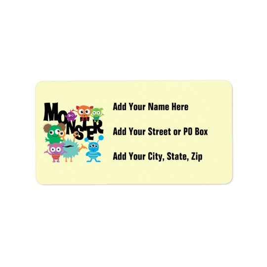 Monster Address Label