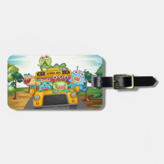 Monster and bus luggage tag