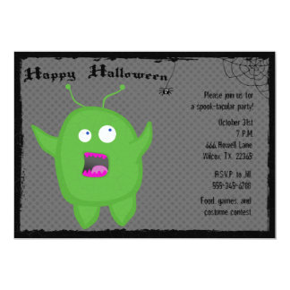 """Monster and Spider Halloween Party Invitation 5"""" X 7"""" Invitation Card"""