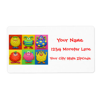 Monster Baby Shower Shipping Label