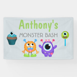 Monster Bash any age personalised Banner