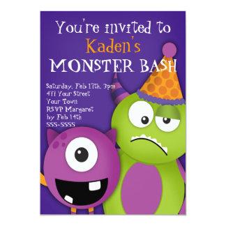 Monster Bash Birthday Party Custom Invitations