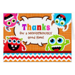 Monster Bash Birthday Party Note Card