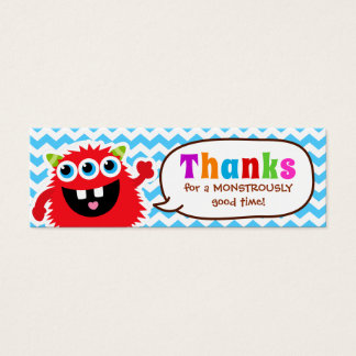 Monster Bash Favor Tag Birthday Party