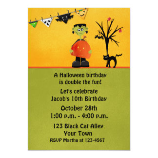 Monster Bash, Halloween Birthday Card
