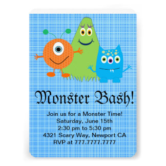Monster Bash Party Invitation