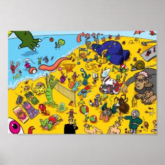 Monster Beach Poster