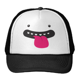 monster big silly face mesh hat