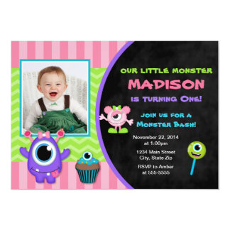 Monster Birthday Invitation Monster Girl Invite