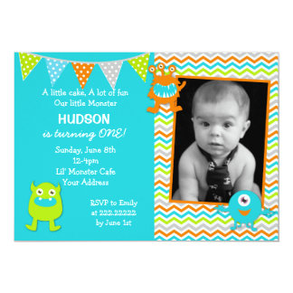 Monster Birthday Invitations