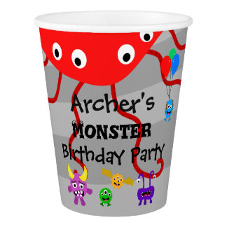 Monster Birthday Party Cups