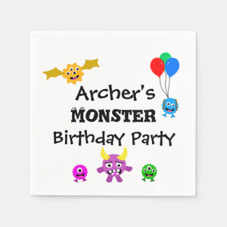 Monster Birthday Party Napkins Disposable Napkin