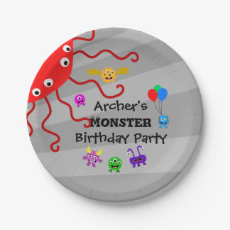 Monster Birthday Party Plates