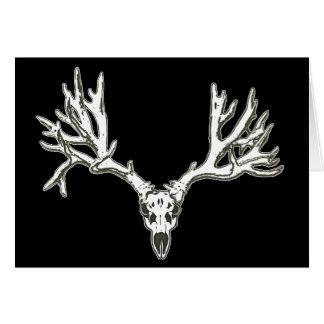 Monster buck deer skull greeting card