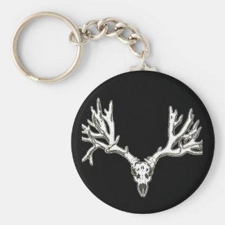 Monster buck deer skull key chain