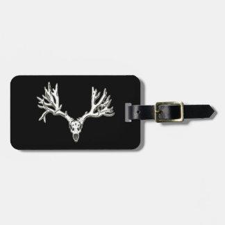 Monster buck deer skull travel bag tag