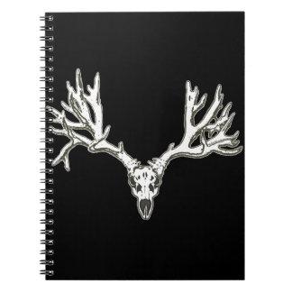 Monster buck deer skull spiral notebook
