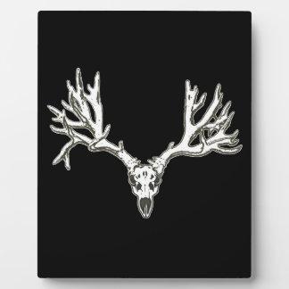 Monster buck deer skull plaques