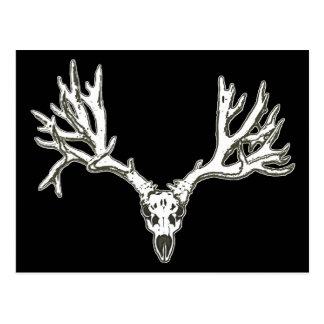 Monster buck deer skull postcards